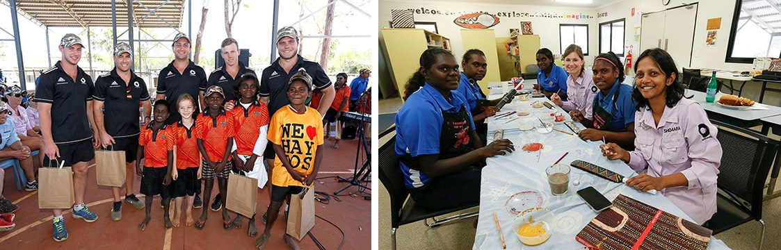 Macquarie staff and sponsorship at the Tiwi College Project